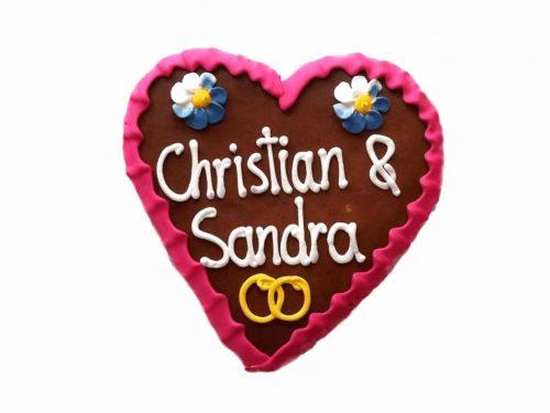 Lebkuchenherz klein Tischkarten Hochzeit