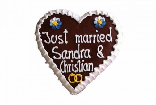 Lebkuchenherz mittel Hochzeit